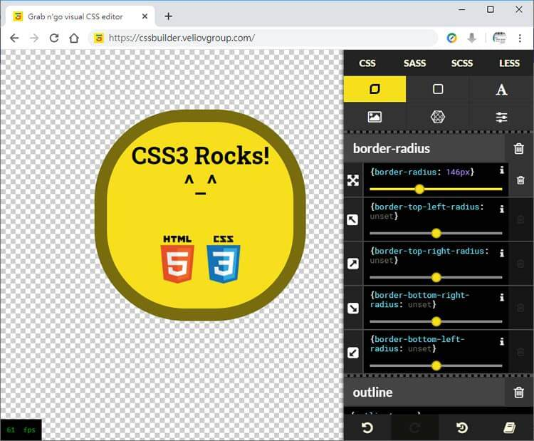 CSS Grab n' Go Editor:可视化的CSS语法在线学习工具